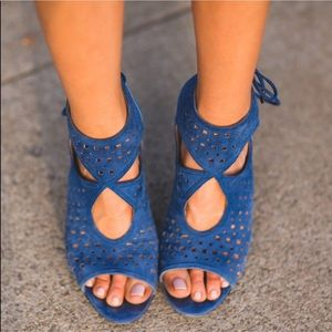 Aquazurra Blue Cut-Out Heel